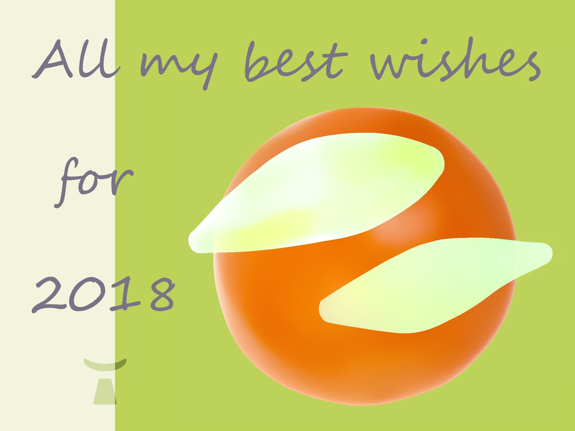 Image of the best wishes card of Jean Toba for 2018