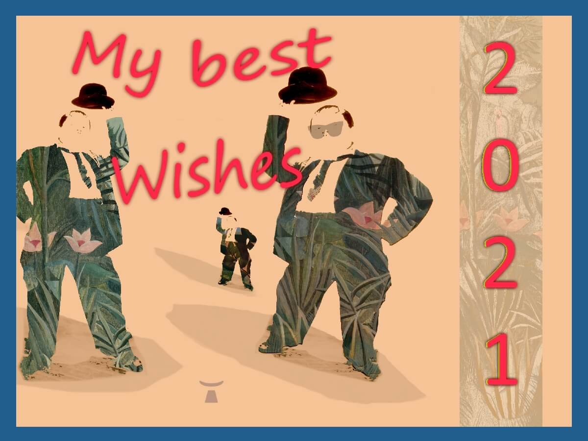 Image of the best wishes card of Jean Toba for 2021
