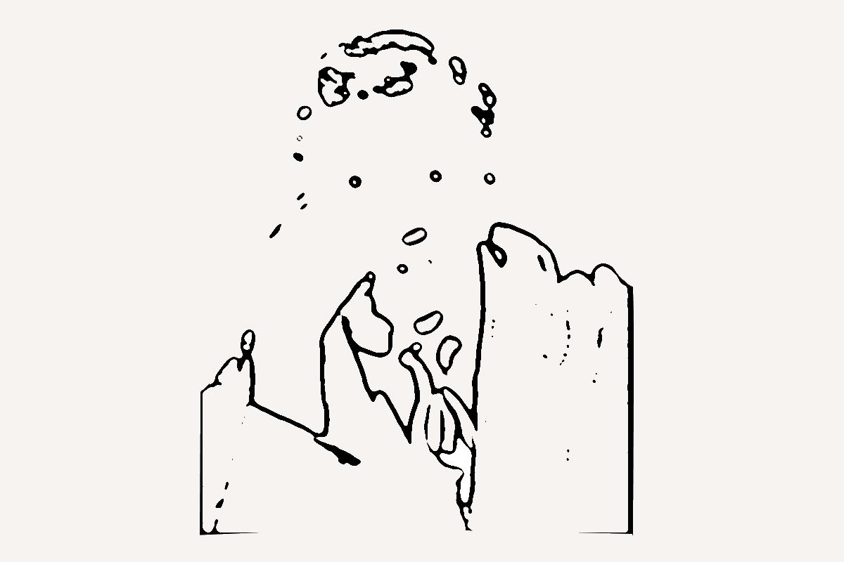 image d'un rêveur penseur par Jean Toba