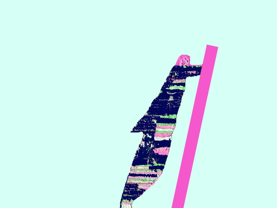 image de l'homme qui pousse un mur sur un fond couleur cyan - logo de Jean Toba inclus