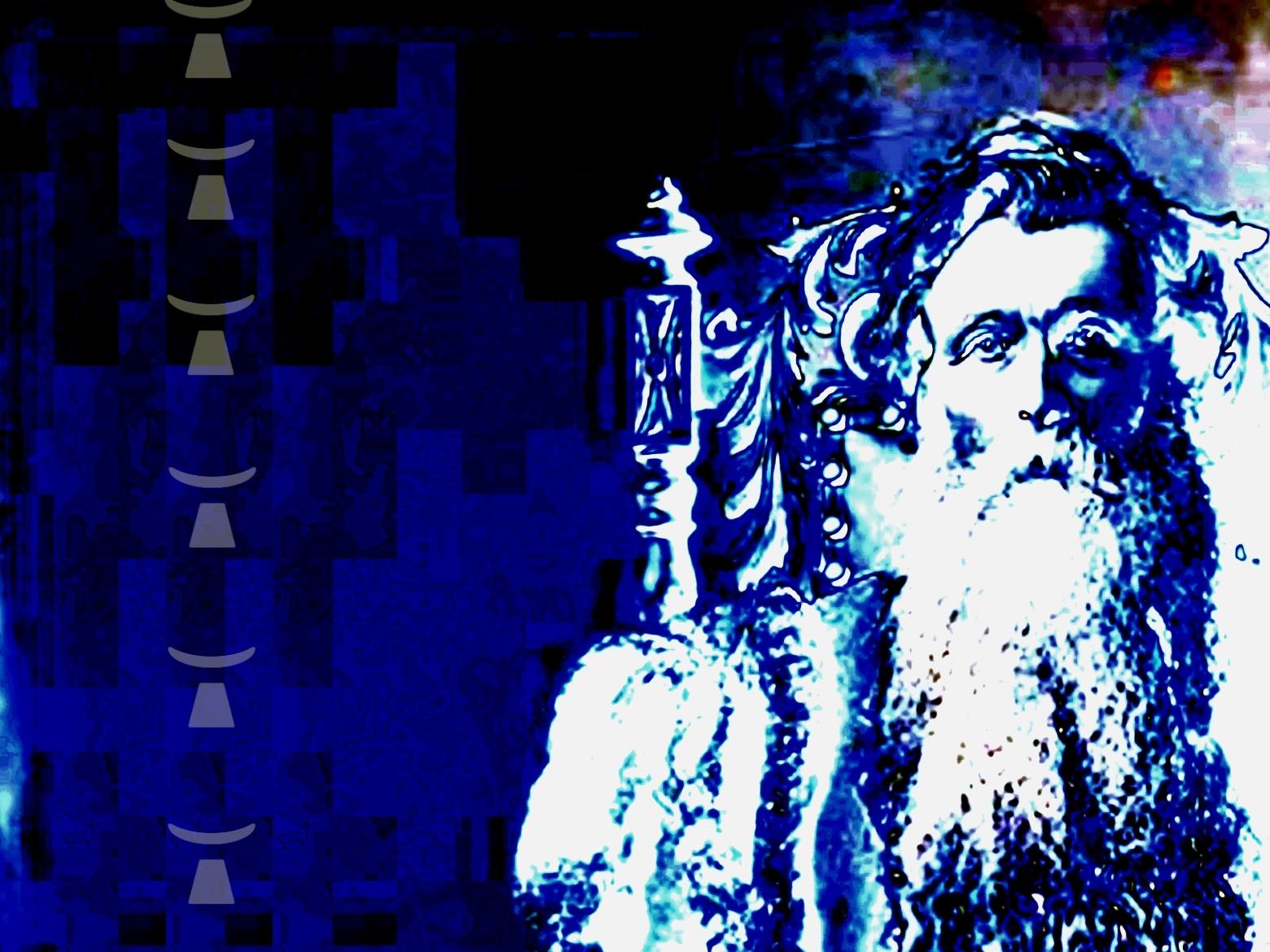 image de Dieu vieille homme barbu avec une très longue barbe