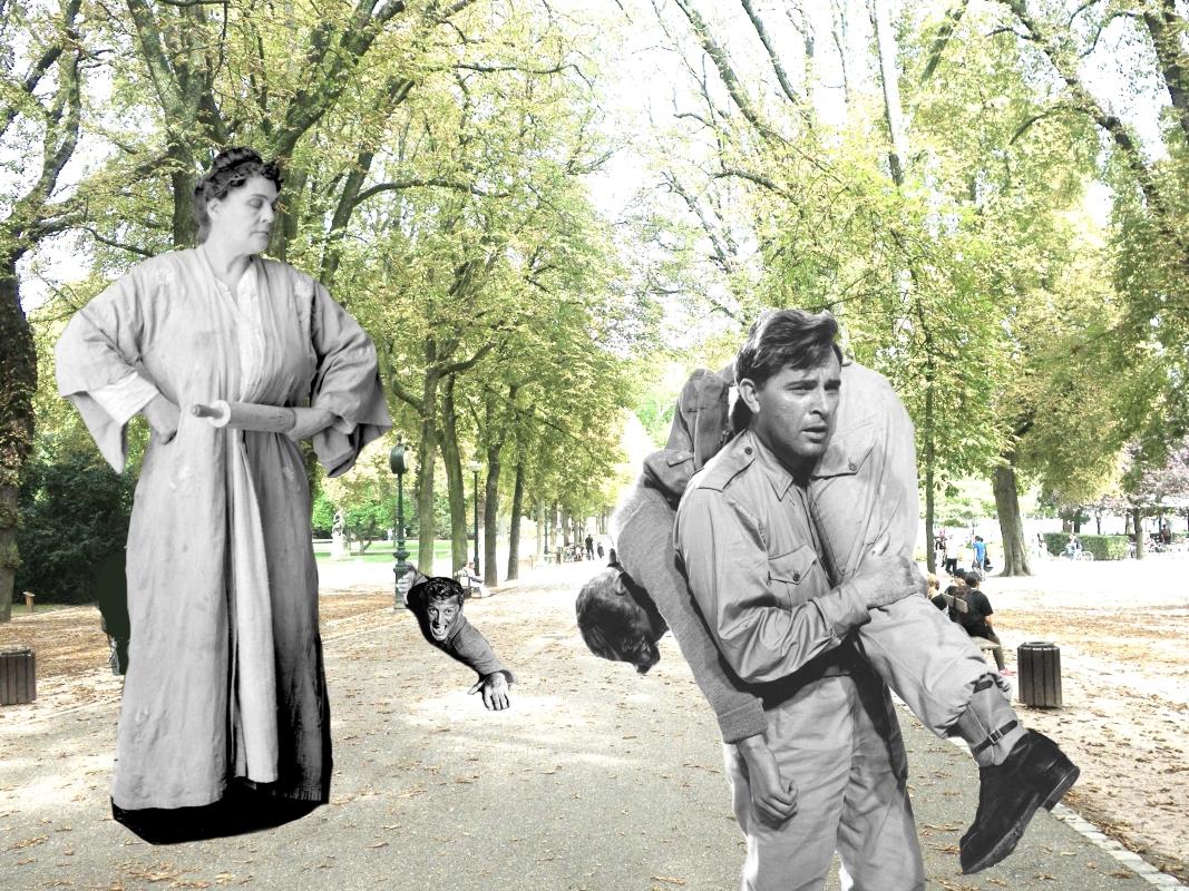 """image du collage intitulé """"Entraide et vigilance"""""""