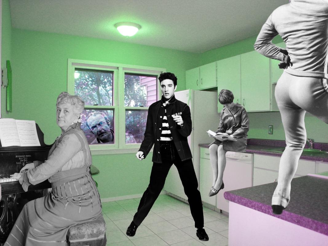 """image du collage intitulé """"Salle de danse particulière"""""""