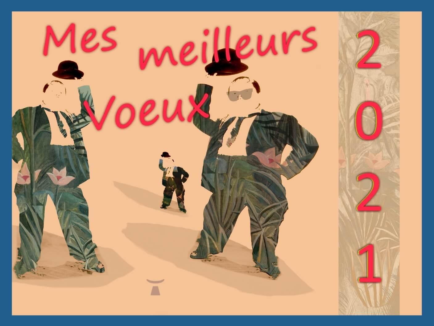 image de la carte de voeux pour l'année 2021 réalisée par Jean Toba